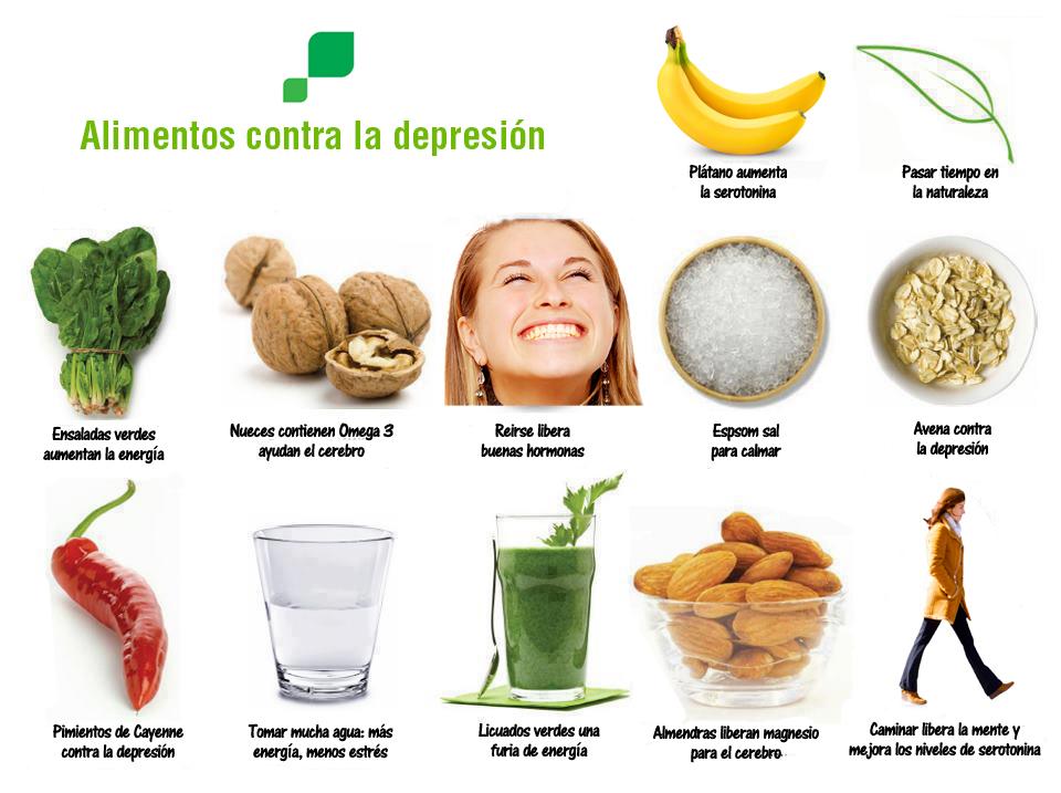 aliemntos contra la depresión